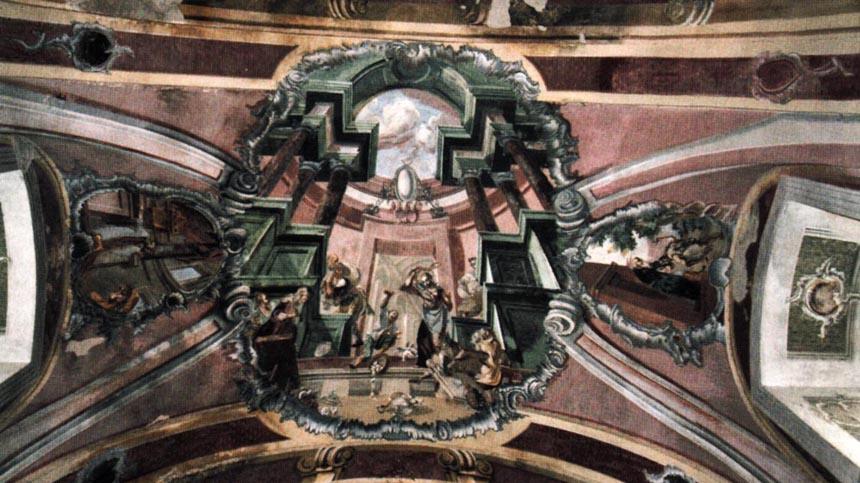 Розписи І. Прехтля в храмі Іванкова (зіскановано з книжки)