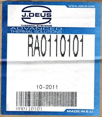этикетка радиатора j. deus