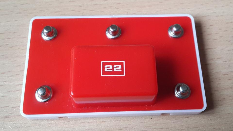 Червоний блок 22 конструуктора Знаток