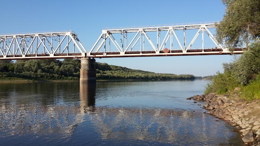 Макошине. Міст через річку Десна