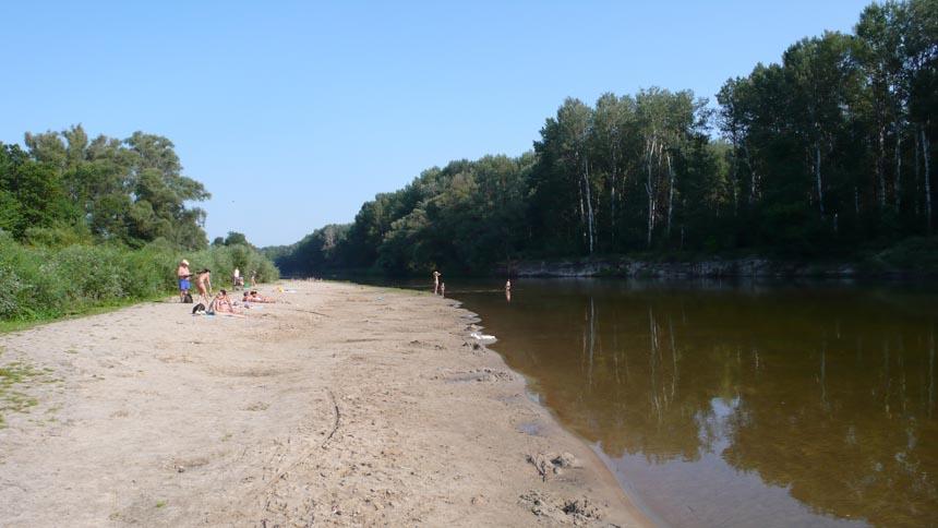 Пляж у Батурині